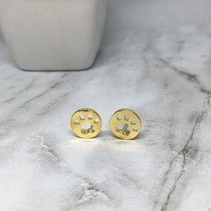 Jewelry - 🐾Cat Paw Print Gold Earrings 🐾